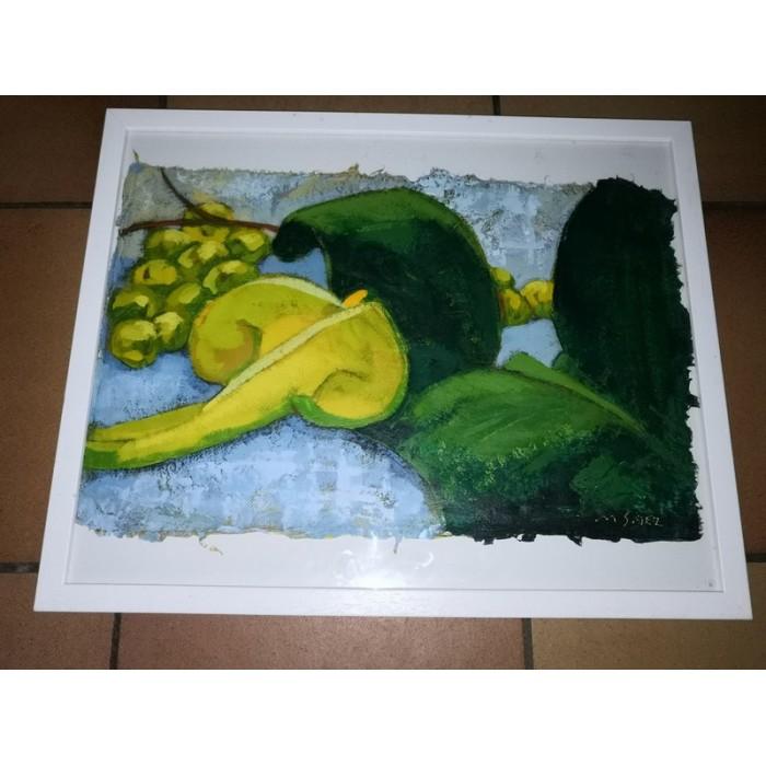 Peinture acrylique par Marcela Saez intitulée Arômes avec certificat d'authenticité