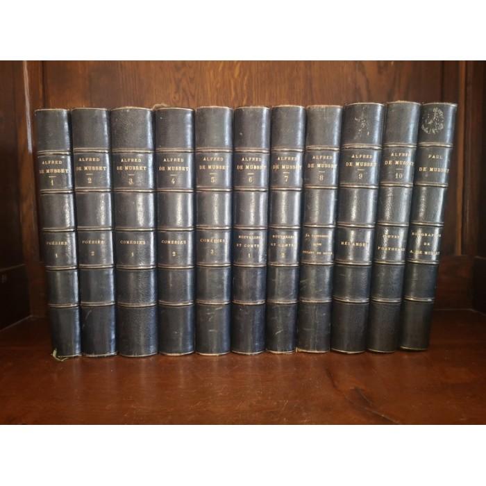 Oeuvres complètes de Alfred de Musset 11 Tomes Complet