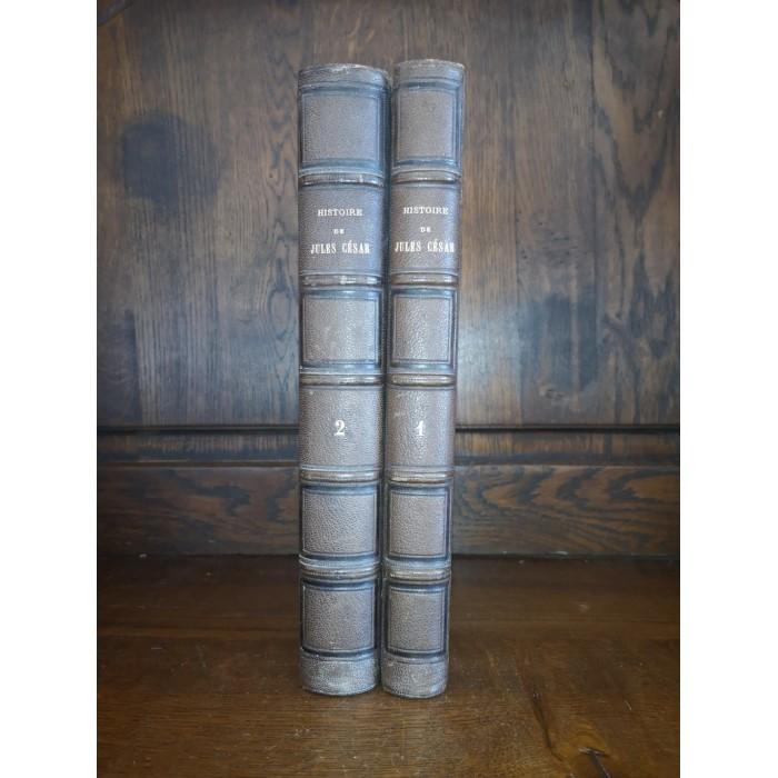 Histoire de jules César 2 Tomes Complet 1865 Avec un envoi pour