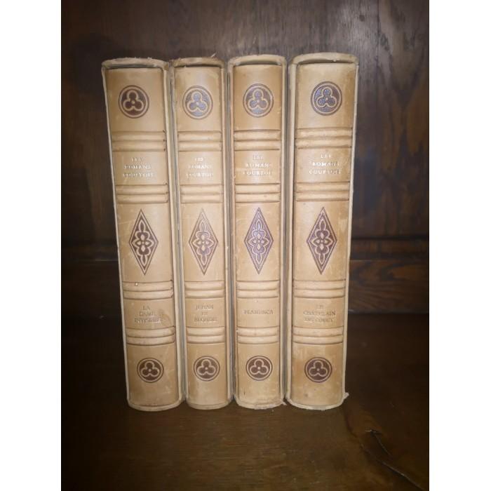 Les romans courtois 4 Tomes complet édition sous emboîtages et numérotée