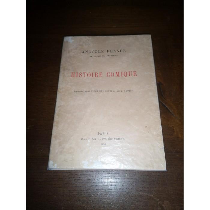 Histoire comique par Anatole France Edition Numérotée