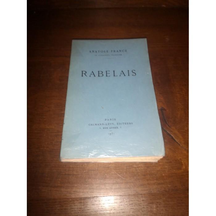 Rabelais par Anatole France