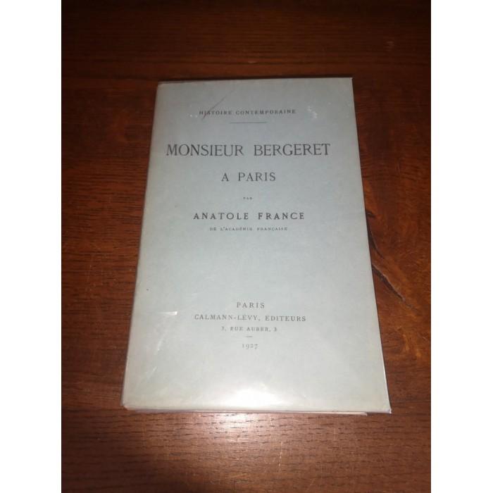 Monsieur Bergeret à Paris par Anatole France