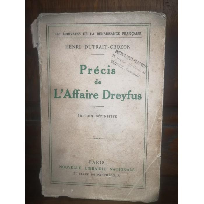 Précis de l'Affaire Dreyfus par Henri-Dutrait Crozon numérotie