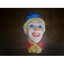 Clown N°6 Legend products Made in England 1985 Signé J. Wright Tête en plâtre d'un clown