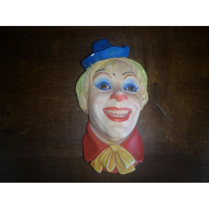 Clown N°6 Legend products Made in England 1985 Signé J. Wright Tête en plâtre d'un clown