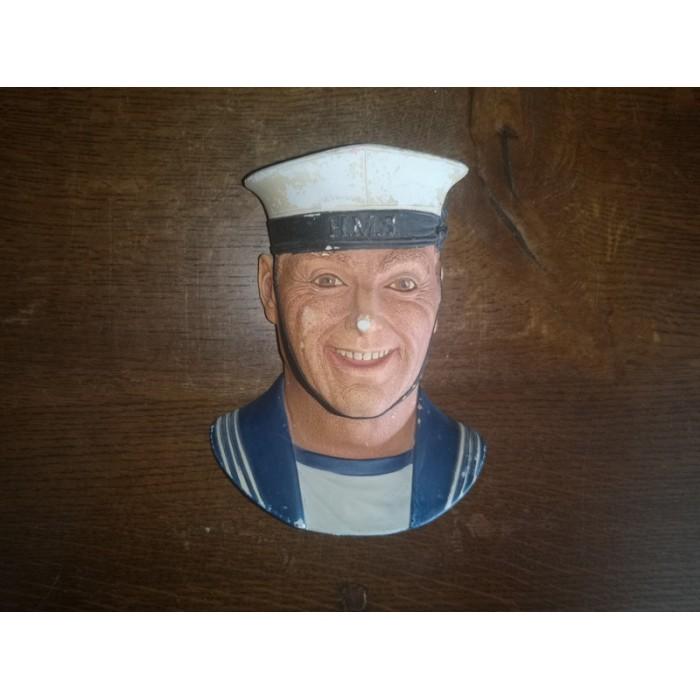 Naval rating Legend products 1989 Signé J. Wright Tête d'un matelot en plâtre