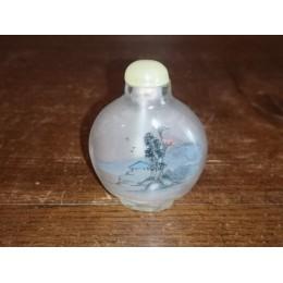 Tabatière chinoise ancienne en porcelaine à double décors