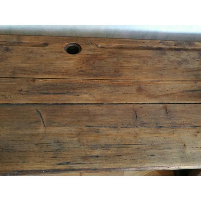 bureau colier 3 places en bois ancien atypique84. Black Bedroom Furniture Sets. Home Design Ideas