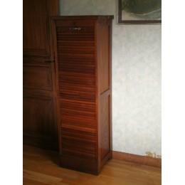 Meuble classeur ou meuble à rideaux en bois