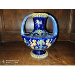 Vase à 2 anses en faïence de Gien