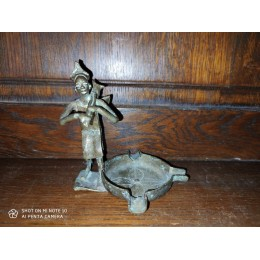 Statuette cendrier en bronze Art Africain