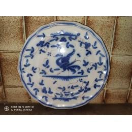 Assiette de faïence de Delft Chinois