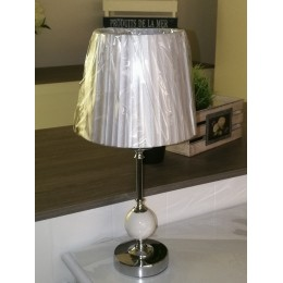 Lampe table bola blanc