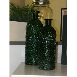 Vases soliflores en forme de bouteille vert