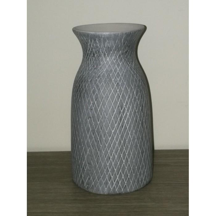 Vase forme bouteille gris