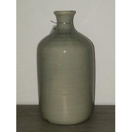 Vase gris arrondie en céramique