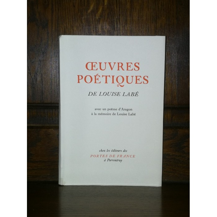 Oeuvres poétiques de Louise Labé