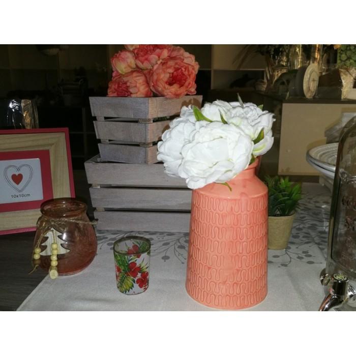 Vase porcelaine saumon