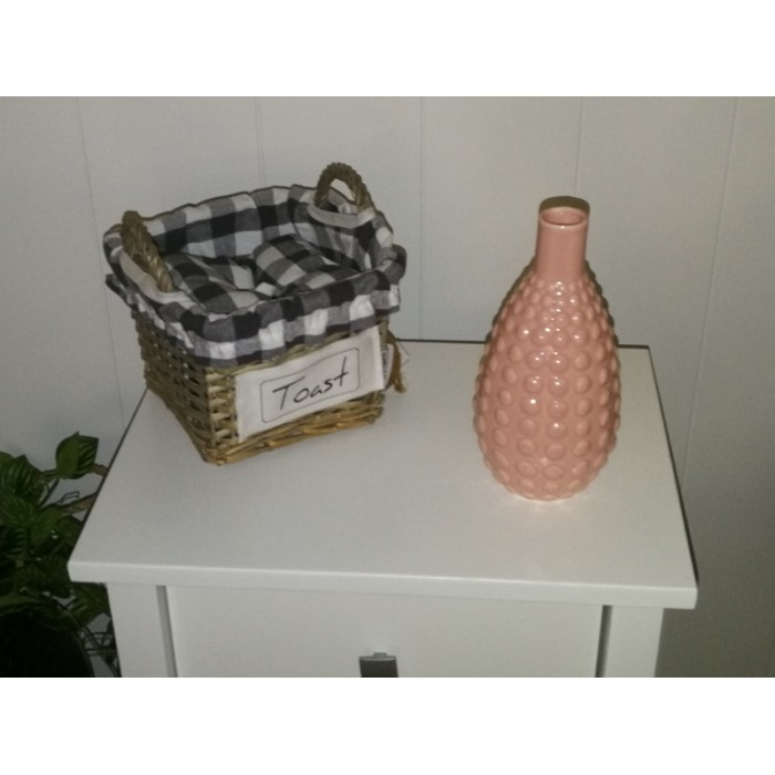 Vase en céramique rose