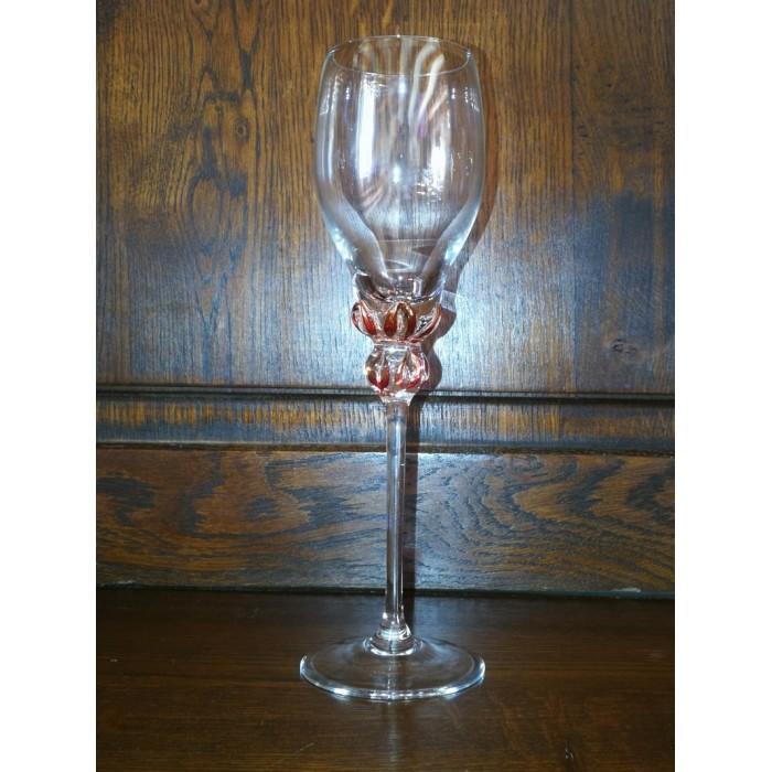 Flûtes à champagne en cristal à décor en verre de murano