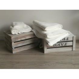 Serviettes, drap douche, drap bain et serviettes invité coton