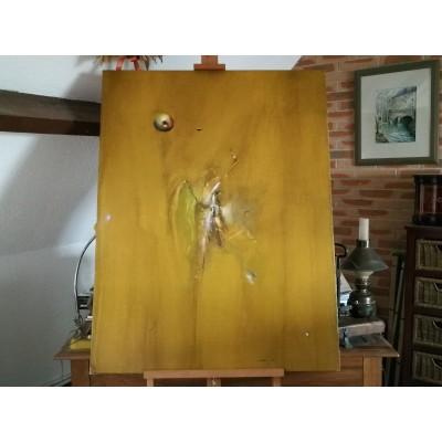 Huile sur toile de Corbel La Pomme