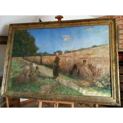 Huile sur toile d'Arthur Gangand école française