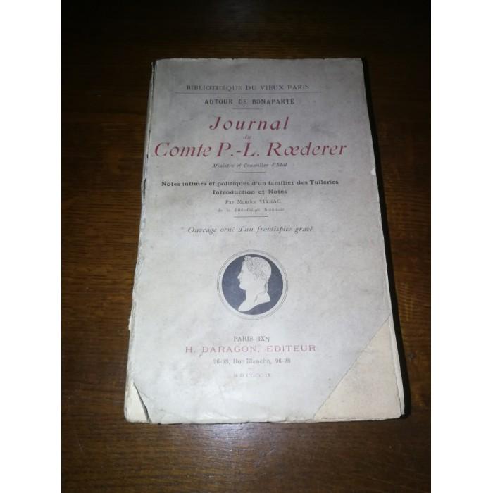 Journal du Comte P-L Roederer (ministre de Bonaparte)