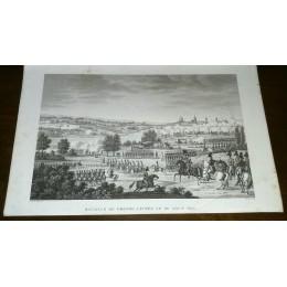 GRAVURE ANCIENNE NAPOLEON BATAILLE DE DRESDE