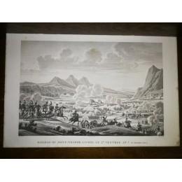 GRAVURE ANCIENNE NAPOLEON BATAILLE DU MONT-THABOR