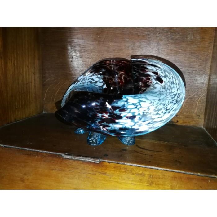 Vase à col plié dans le style de clichy