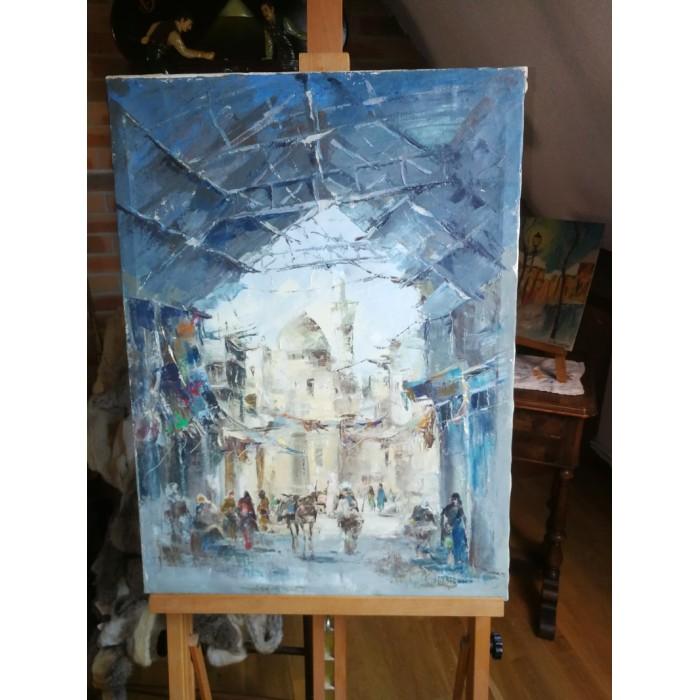 Tableau peinture huile sur toile orientaliste