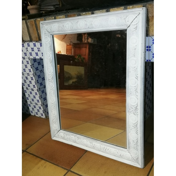 Miroir en bois peint