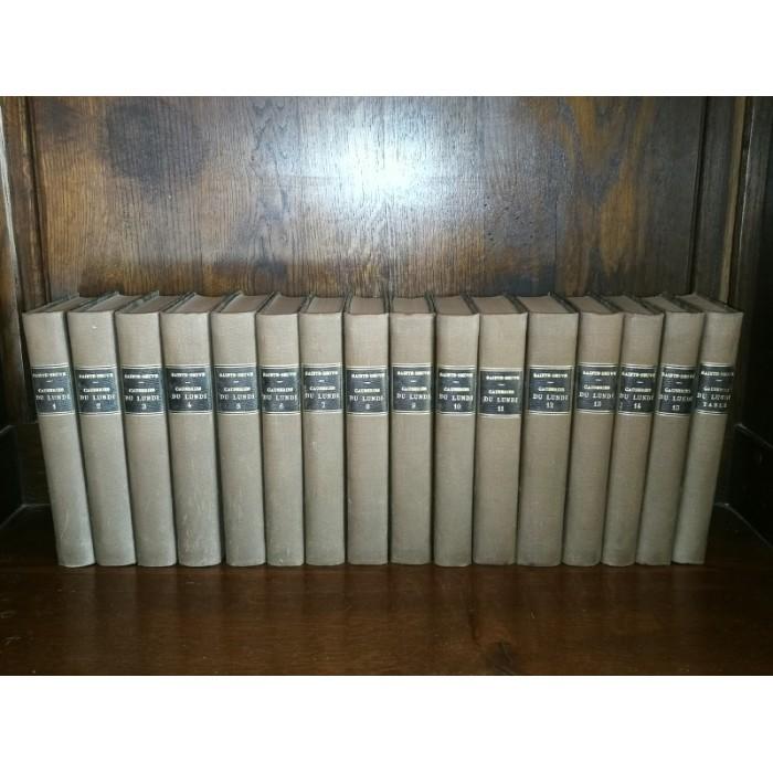 Causeries du Lundi par C.A Sainte-beuve complet de ses 16 tomes