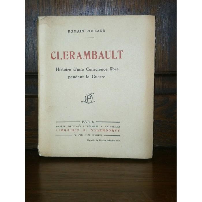 Clerambault par Romain Rolland édition originale numérotée Guerre