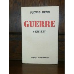 Guerre (Krieg) par Ludwig Renn Edition originale numérotée