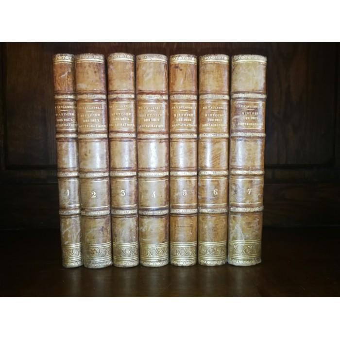 Histoire des 2 Restaurations par Achille De Vaulabelle jusqu'à la chute de Charles X  7 tomes complet