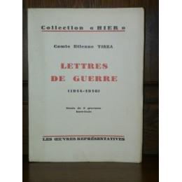 Lettres de Guerre (1914-1916) par le Comte Etienne Tisza édition numérotée
