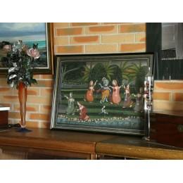 Peinture sur tissu, sur fil scène Hindouiste