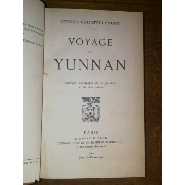 Voyage au yunnan par gervais Courtellemont