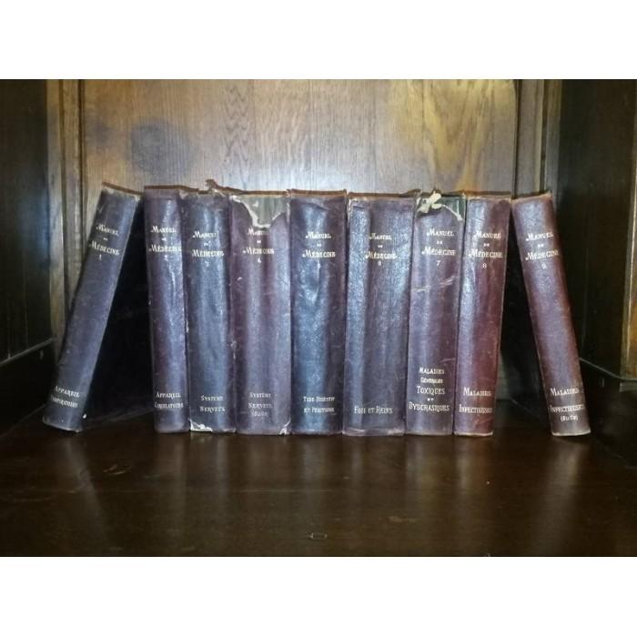 Manuel de médecine par G.M. Debove et CH. Achard 9 livres
