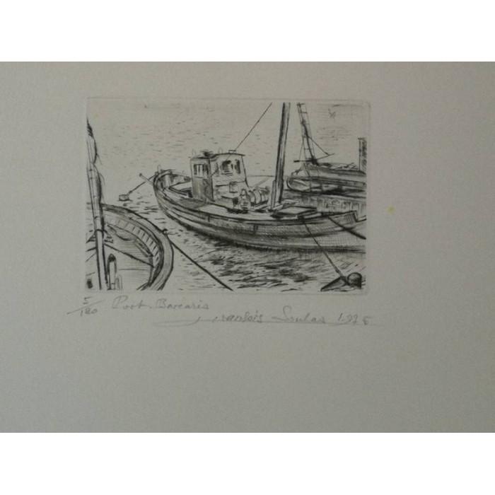 Port Barcares par françois Soulas Eauforte numérotée