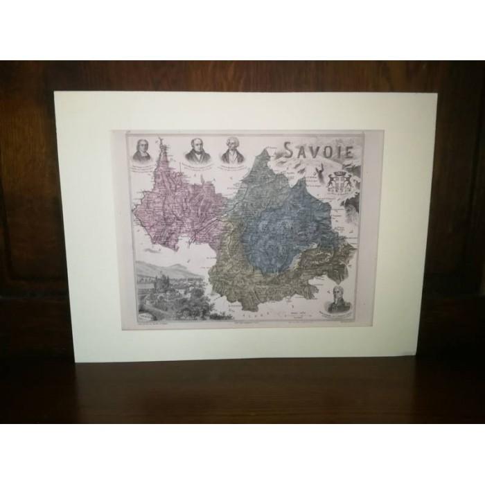 Carte ancienne Authentique de la Savoie 1861