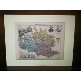 Carte ancienne Authentique de l'Ariège 1861