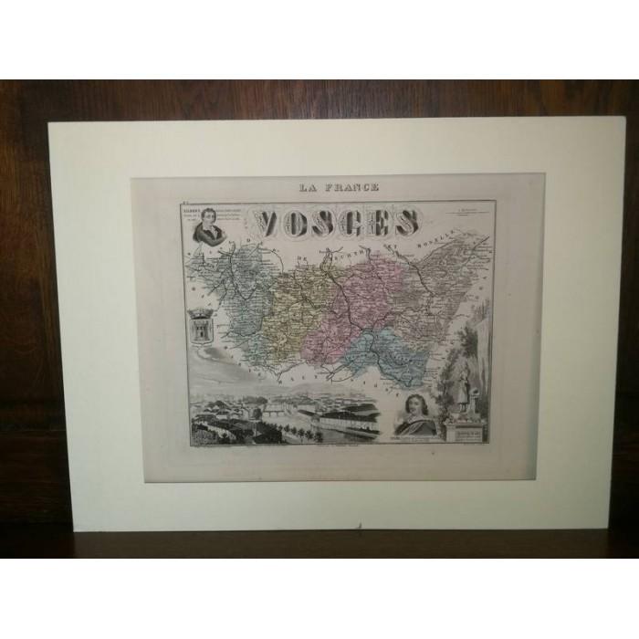 Carte ancienne Authentique des Vosges 1861
