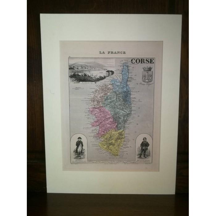 Carte ancienne Authentique de La Corse 1861