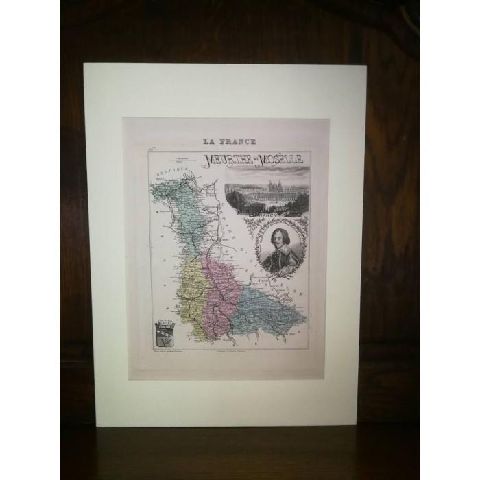 Carte ancienne Authentique de Meurthe et Moselle