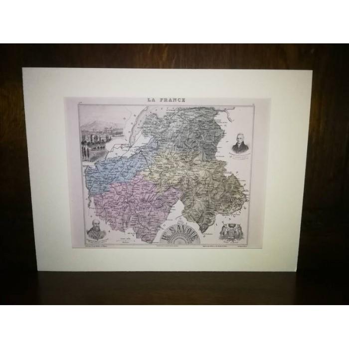 Carte ancienne Authentique de La Haute-Savoie