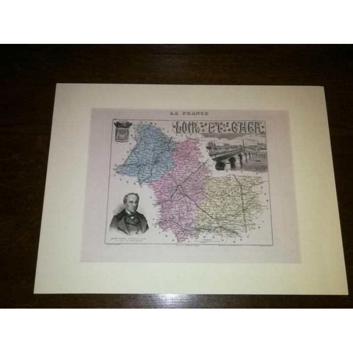 Carte ancienne Authentique du Loir et Cher